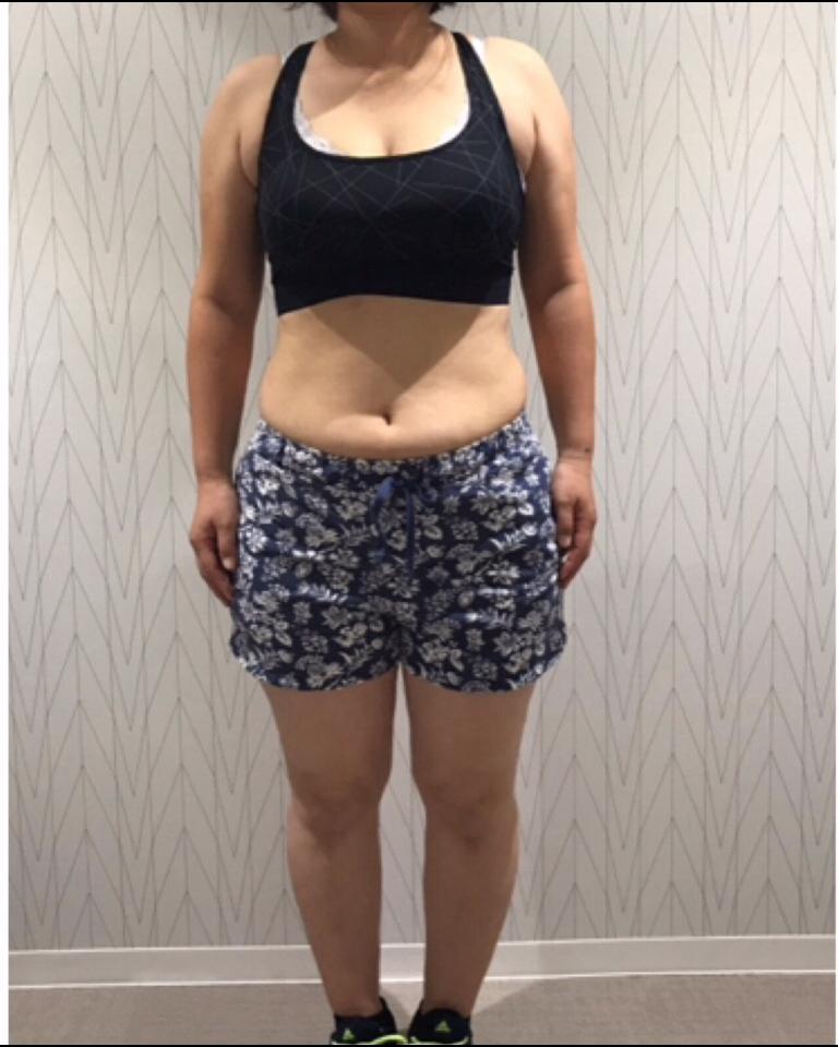 身体に変化が欲しかったけど自分1人では長続きしませんでした。:BEFORE画像